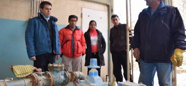 Siguen los trabajos para restablecer el servicio del agua en Andacollo